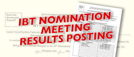 IBT Nomination Meeting Results Posting