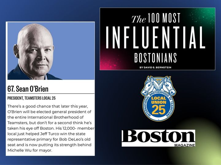 PRESIDENT O'BRIEN NAMED ON BOSTON MAGAZINE'S LIST OF MOST INFLUENTIAL BOSTONIANS